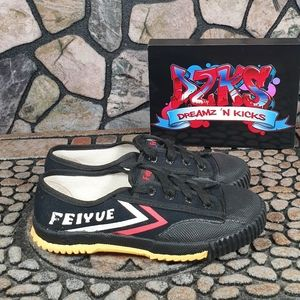 Feiyue Canvas Black White Red Martial Arts